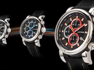 обои Круглые часы Jack Pierre с полосками фото