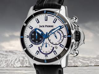 обои Часы Jack Pierre с синими полосами фото