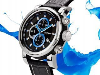 обои Часы Jack Pierre на бело синем фоне фото