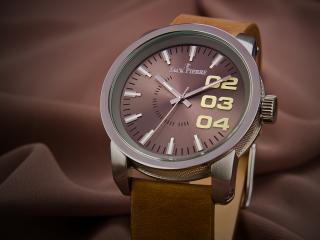 обои Часы Jack Pierre с бархатным ремешком фото