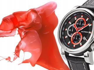 обои Часы Jack Pierre с красными стрелками фото