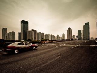 обои Автомагистраль к городy фото