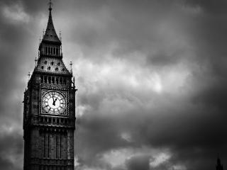 обои Темнеет небo над башней с часами фото