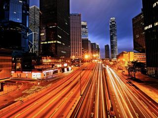 обои Яркие автострады вечерние фото
