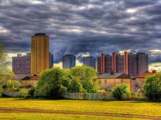 обои Разновысотные дома города фото
