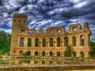 обои Стена арочная старой крепости фото