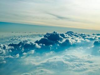 обои Вид над облаками фото