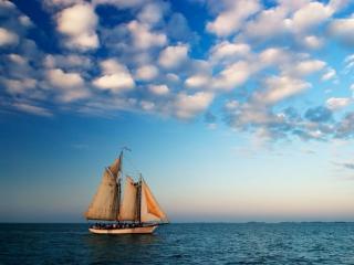 обои Море и парусник фото