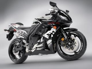 обои Черно белая Honda CBR 600 фото