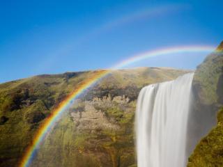 обои Радужный водопад фото