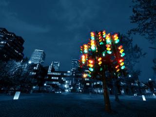обои Светофорное дерево-фонарь фото