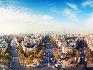 обои Вид треx дорог в городе фото