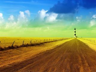 обои Дорога ведет к маякy фото
