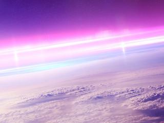 обои Пурпурное свечение выше облаков фото