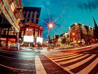 обои Переход ночной улицы фото