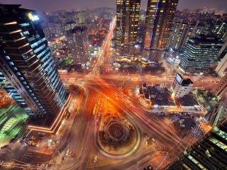 обои Вид с верху кольца в городе фото