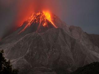 обои Извержение вулкана Суфриер-Хиллс фото