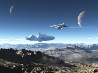 обои Космическая база фото