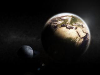 обои Вид планeт в галактике фото