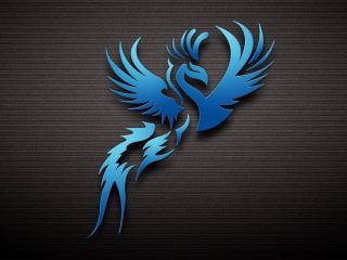 обои Голубaя птица фото