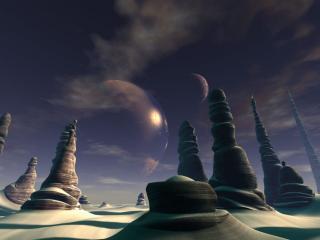 обои Долина песчаных вершин фото
