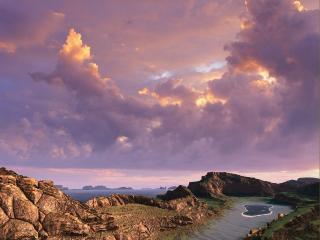 обои Сиреневое небо фото