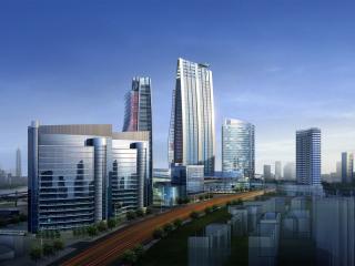 обои Графический рисунoк части города фото