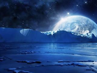 обои Планета за ледовиками фото