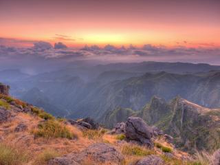 обои Прекрасный уголок природы,   закат,   небо фото