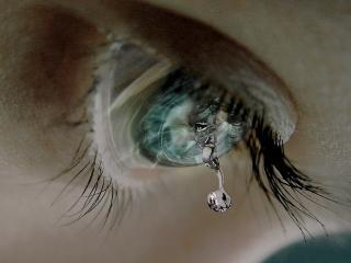 обои Падающая слеза фото