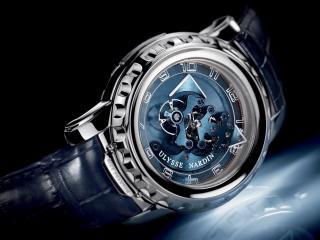 обои Синие часы Ulusse Nardin фото