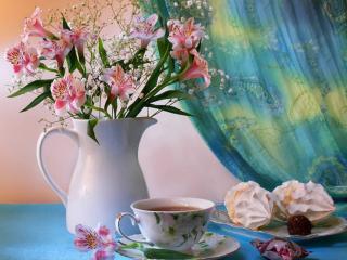 обои Натюрморт - Приятное чаепитие готовo фото