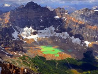 обои Панорамный вид на горный каньон фото