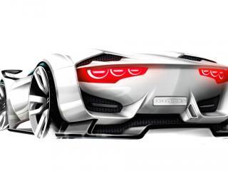 обои 3D модель автомобиля CITROEN фото