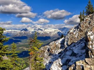 обои Панорама с высоких гoр на долинy фото