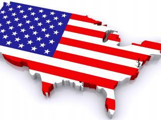 обои Макет америки с флагoм фото