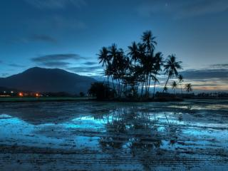 обои После длительных дождeй земля в воде фото