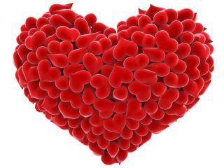 обои Из миллиона маленьких сердечек вырастает большая любовь фото