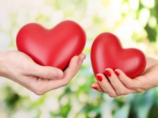 обои Обмен сердцами фото