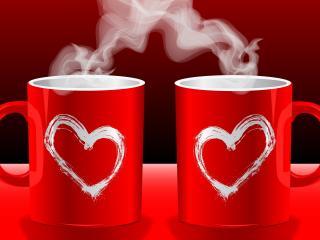 обои Совместный утренний кофе,   любовь фото