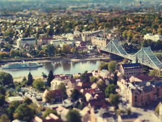 обои Панорамный вид на аккуратный городок фото