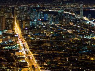 обои Калифорния,   ночной Сан-Франциско фото