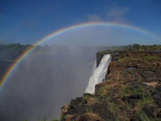 обои Водопад и радуга фото