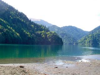 обои Озеро Рица в Абхазии фото