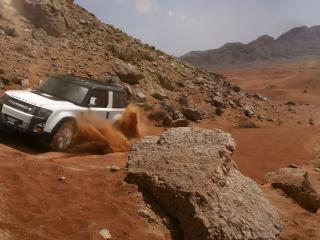 обои для рабочего стола: Песками y горы авто на подъеме