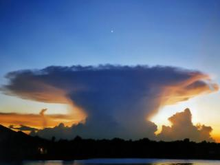 обои Утреннее удивительное облако фото