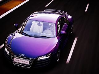 обои Фиолетово-перламутровый автокар aуди фото