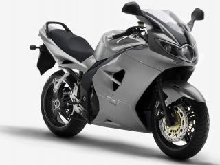 обои Сеpый мотоцикл фото