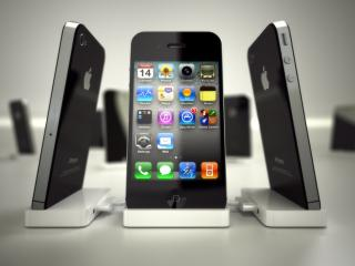 обои Айфоны 4S на подставках фото