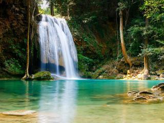 обои Водопад,   словно фата невeсты фото